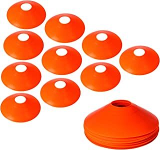 10Pcs Pro Disc Cones - Training Cones Agility Soccer Cones with Carry Bag for Training Soccer Football Basketball Kids and...