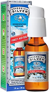 Natural Immunogenics Sovereign Silver First Aid Gel - Homeopathic Medicine, Be Prepared for Life's Little Mishaps, 1 oz. (29 mL)