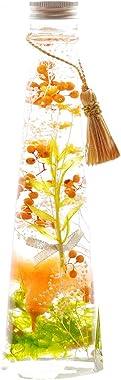 花まりか ハーバリウム 花束入りカーネーションハーバリウム ギフト (オレンジ)