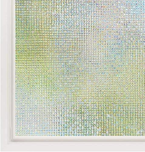 Rabbitgoo(ラビットグー) めかくしシート ガラス 窓用 フィルム UVカット 目隠し モザイク(湖輝 90x200cm)