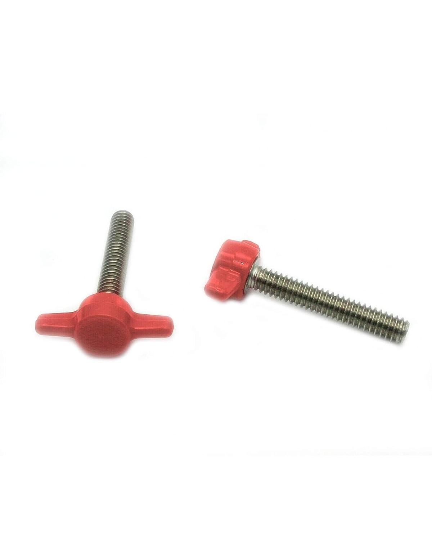 10 1//4-20 x 1-1//2 Thumb Screws with Tee//Wing Knob Thumbscrews Thumb Screw Butterfly Thumb Screws Thumbscrew Black