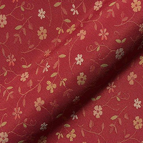 MiBiento Living Stoff Polsterstoff Möbelstoff Bezugsstoff Meterware für Stühle, Eckbänke, etc. - Graubünden Rot Blumen
