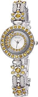 AStarsport Women Luxury Elegant Flower Rhinestone Flower Bangle Bracelet Watches Fashion Lady Dress Watch Analog Wristwatch