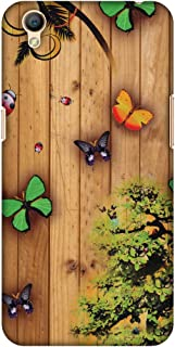 AMZER Slim Fit Handcrafted Designer Printed Hard Shell Case Back Cover for Oppo A37 - Bonsai Butterfly