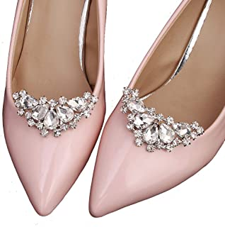 b858127b1 Removable Bride Rhinestone Shoe Buckle Women Girls Crystal Shoe Clips  Wedding Party Shoes Decoration Charms Hat