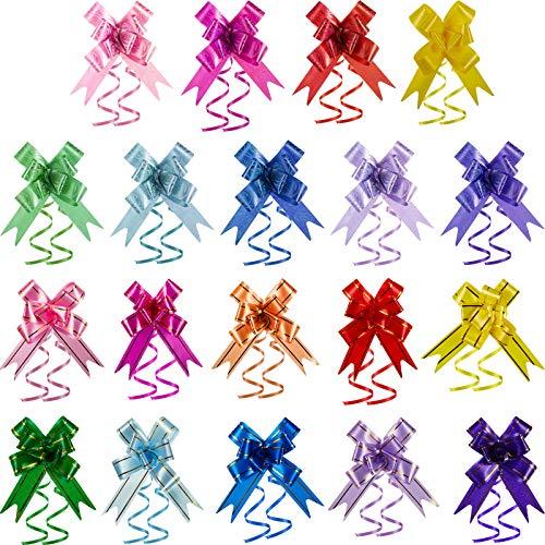 Geschenkschleifen für Weihnachten, Neujahr, Erntedankfest, Geburtstag, Hochzeit, Party, 200 Stück in verschiedenen Farben