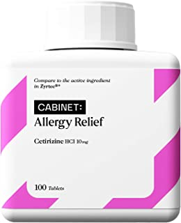 Cabinet 24-Hour Allergy Medicine (100-Count) Non-Drowsy Antihistamine for Pollen, Hay Fever, Dry, Itchy Eyes, Allergies | ...