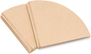 40Pcs Special 102 Cone Coffee Filter Paper Natural Unbleached Original Wooden Drip Paper