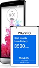 (Upgraded) Wavypo LG G3 Battery, 3500mAh Replacement Battery for LG G3 BL-53YH, D852, D855, D850, D851, VS985, LS990, G3 Spare Battery [24 Month Warranty]
