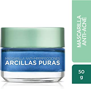 L'Oréal Paris Skincare Pure-Clay Face Mask with Seaweed for Redness and Imperfections to Clear & Comfort, 1.7 oz.
