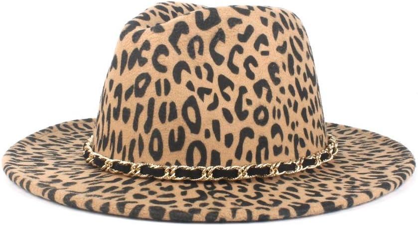 LIRRUI Top Hat Women's Wide-Brimmed Wool Felt Jazz Hat Panama Wool Polyester Fedora Hat Woven Rope Casual Hat (Color : Khaki, Size : 56-58cm)