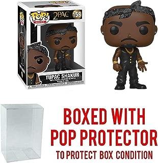 Tupac Shakur: Funko Pop! Rocks Vinyl Figure Bundle with 1 Compatible 'ToysDiva' Graphic Protector (158 - 45432 - B)