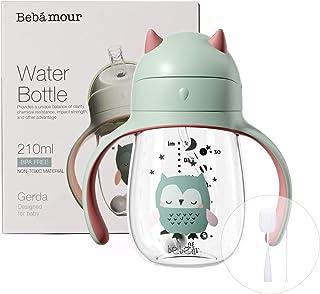 Bebamour Sippy Cup 6-36 Maanden Non Spill Straw Cup voor peuters Zachte tuitbeker Morsbestendig Water Bottler voor kindere...