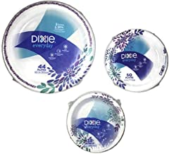 Dixie Everyday Paper Plate & Bowl Bundle, Large Plate (44 ct), Small Plate (50 ct) and Bowl (38 ct)