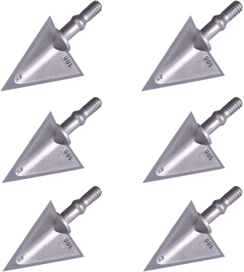 Max 70% OFF MEJOSER Archery Broadheads OFFicial store 100 Grain Blades Stainless Fixed Stee