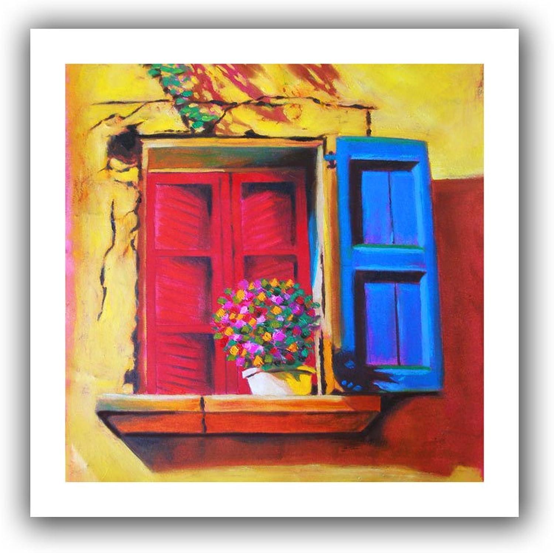 ArtWall  Venetian Window  Unwrapped Canvas Art by Susi Franco, 28 by 28Inch