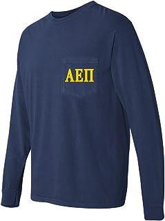 Alpha Epsilon Pi AEPI Fraternity Comfort Colors Pocket Long Sleeve Shirt