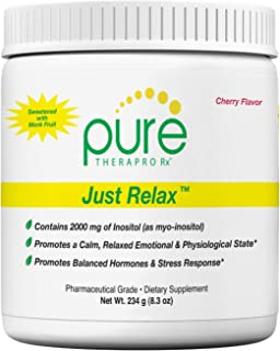 Just Relax - Cherry 60 Servings | Supports: Relaxed Mood, Healthy Blood Pressure, Emotional Wellness, Hormonal Balance* | Myo-inositol; Di-Magnesium Malate, GABA, Taurine, L-Theanine (Suntheanine)