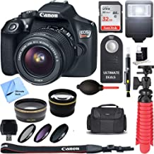 $429 Get Canon EOS Rebel T6 Digital SLR Camera + EF-S 18-55mm is STM Lens Kit +Ultimate Accessory Bundle 32GB SDXC Memory + DSLR Photo Bag + Wide Angle Lens + 2X Telephoto Lens + Flash + Remote+ Tripod+More