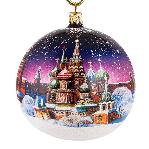 Books.And.More St. Basil's Cathedral Christmas Ball Ornament - Glass Christmas Tree Decorations