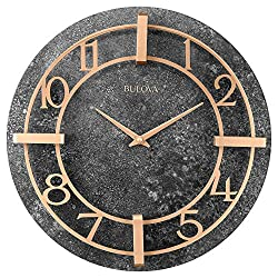 Bulova C4123 Gotham Wall Clock, Granite-Tone Finish