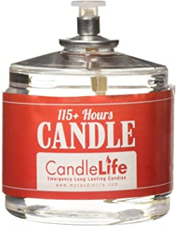 Candlelife Emergency Survival Candle (Set of 4) - 115 Hours Long Lasting Burning Time - Great Source of Light for Blackou...
