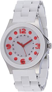 Marc By Marc Jacobs White Dial Silicone Band Watch - Mbm2588, Analog Display, Quartz Movement, For Unisex