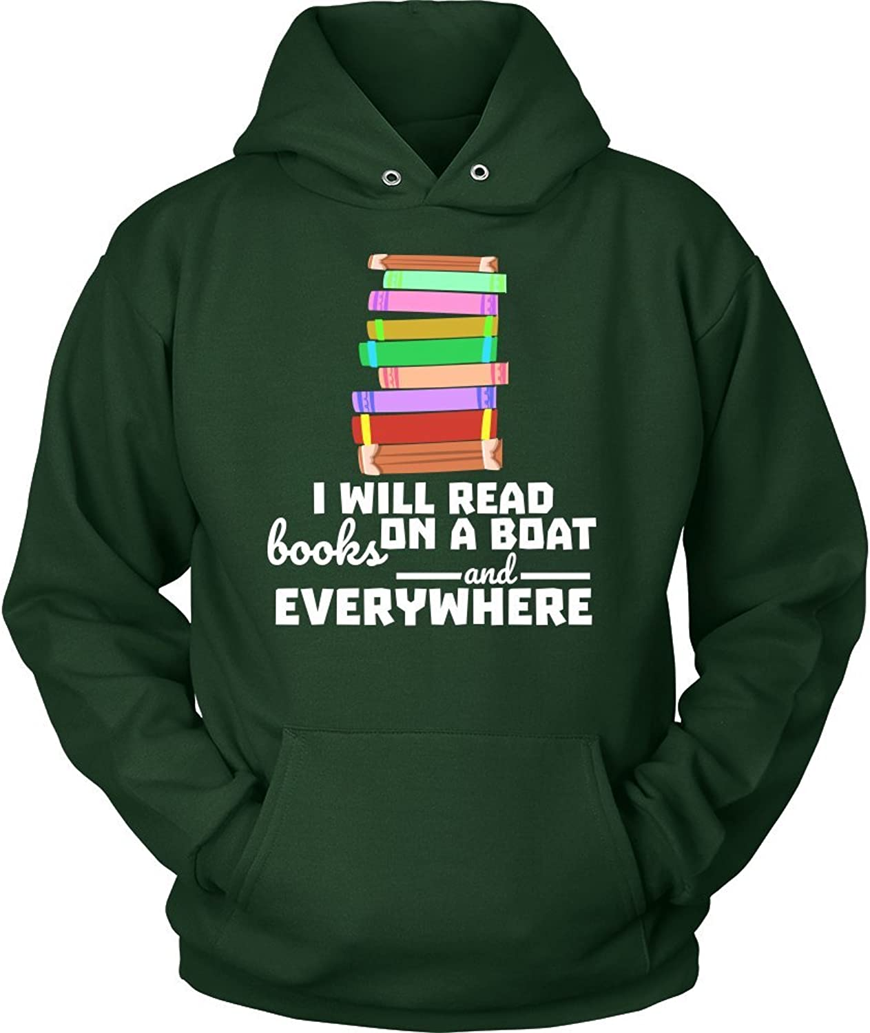 Lifehiker Designs I Will Read Books On a Boat and Everywhere, Librarians Hoodie