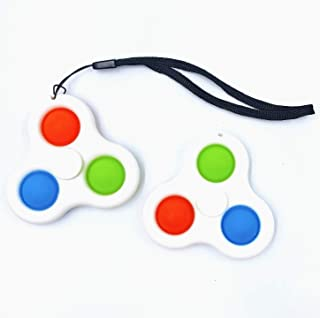 2 Pack Simple Dimple Fidget Toys,Special Office Toys for Children and Adults, Pressure Relief Toys, Fidget Popper Spinners...