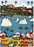 1000 Pieces Jigsaw Puzzles for Adults Oil Painting Cool Puzzles White Boats Flowers River Town Challenging Puzzles Wall Hanging for Home Decor