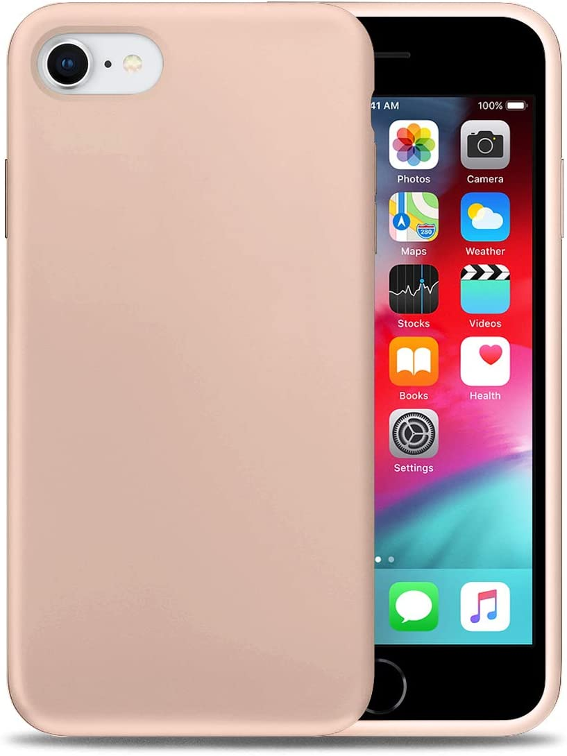 Liquid Silicone Phone Case for Apple iPhone 6/6S Full Body Protection/Shockproof/Gel Rubber/Cover Case Drop Protection Sand Pink