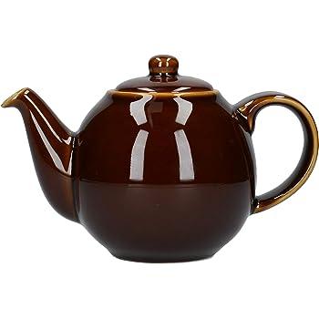 London Pottery Th/éi/ère avec filtre 2 tasses Marron
