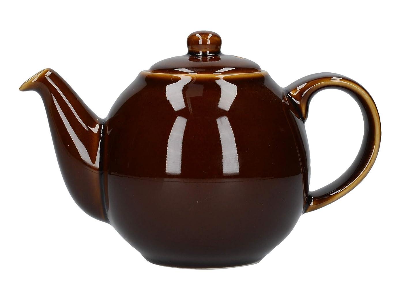 London Pottery Globe Teapot, Rockingham Brown, 2 Cup, Closed Box