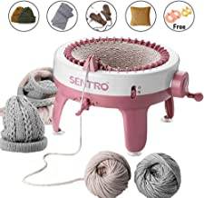 Knitting Machine, Smart Weaving Loom Knitting Round Loom, Knitting Board Rotating Double Knit Loom Machine, 40 Needles Knitting Loom Machines Weaving Loom Kit for Adults and Kids