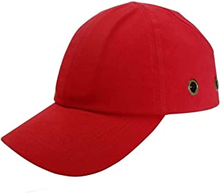 Lucent Path Red Baseball Bump Cap - Lightweight Safety Hard hat Head Protection Cap