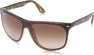 RAY-BAN RB4447N Blaze Square Sunglasses, Havana/Brown Gradient, 40 mm