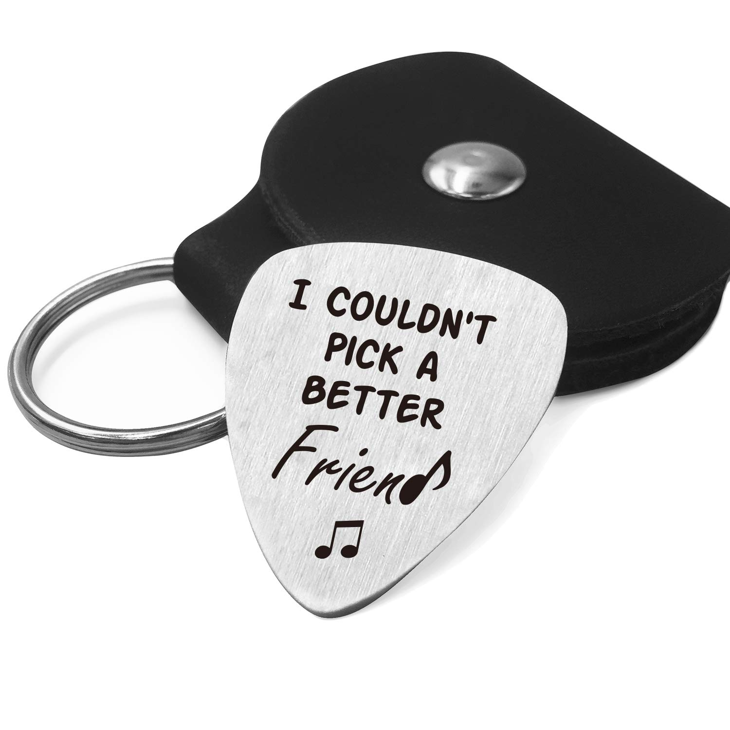 Best Friend Guitar Pick Gifts For Him Men Stainless Steel Guitar Pick With Guitar Pick Holder Case Friendship Gift Ideas For Friends Graduation Birthday Valentines Christmas Gifts Amazon Com Au Musical Instruments