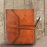 Personalizado diario de piel, hecho a mano), diario, agenda diario, cuaderno de fundas para portátil (piel rústica, libro de visitas diario