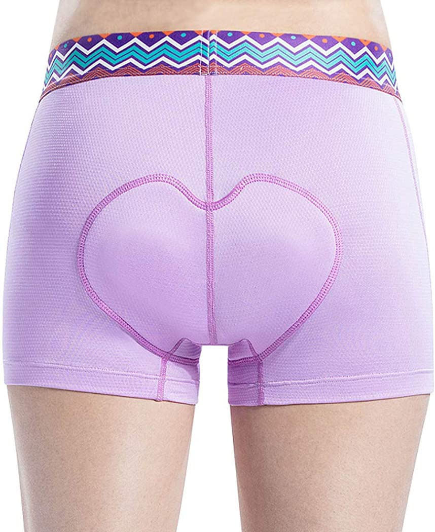 Santic Women 3D-Padded Cycling-Underwear Bike Shorts Quick Dry Total Elastic with Wide Waistband
