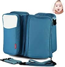Baby 3 in 1 Multi-Functional Diaper Bags Travel Bassinet - Portable Bassinet & Changing Pad Station,C