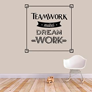 Wall Quotes Decal Wall Stickers Art Decor Teamwork makes dream work for office