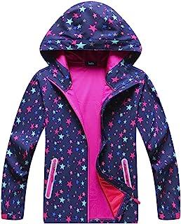 ChooTeeYeen Boys Girls Rain Jackets Lightweight Waterproof Hooded Raincoats Windbreakers for Kids