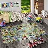 Snapstyle Tapis de Jeu pour Enfant Aventure Motifs Village Couloir - 17 Tailles Disponibles