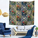 Tapiz de pared Baulred Galo de Barcelos para colgar en la pared con decoración de la naturaleza del hogar en 149 x 149 cm.