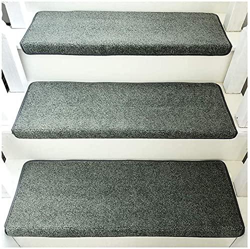 YUEDAI 3 unids Escalera alfombras alfombras escaleras colchas esteras, escaleras Alfombra, Alfombra de Paso Antideslizante protección para Interiores, Pasta repetida sin Escalera de Escalera de traza