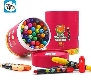 Jar Melo Washable Crayons -36 Colors; Non Toxic; 3 In 1 Effect (Crayon- Pastel- Watercolor); Slick; Twistables Gel Crayons; Barrel Crayons; Art Tools; Silky Crayons; Jumbo