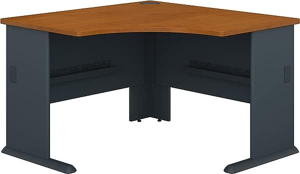 Bush Business Furniture Series A 48W Corner Desk In Natural Cherry And Slate