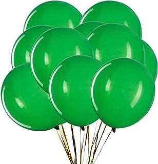 بالونات لاتكس خضراء 30.48 سم من شركة زويو، بالونات ذات جودة عالية، بالونات خضراء لتزيين الحفلات عبوة من 60 قطعة