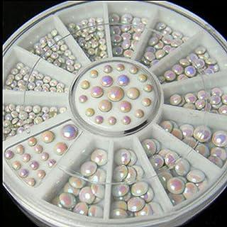 2MM/3MM/4MM DIY 3D Wihte AB Metal Pearl Nail Glitter Nail Crystal Rhinestones Nail Art Decorations Manicure tools