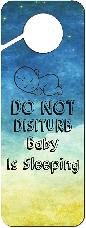 JWOJJUAW Do Not Disturb Baby Is Sleeping 1 Plastic Door Knob Hanger Sign Warning Tag For Hotel Room Home Decoration